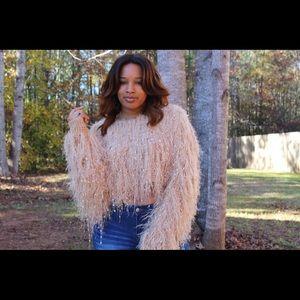 Sweaters - Fur Cropped Sweater